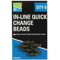 Conector Schimbare Rapida Rig Preston In-Line Quick Change Beads, 6buc/blister